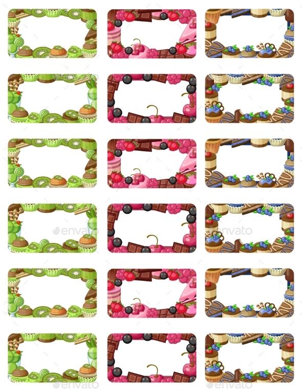 Cupcakes Labels Set - Miscellaneous Vectors