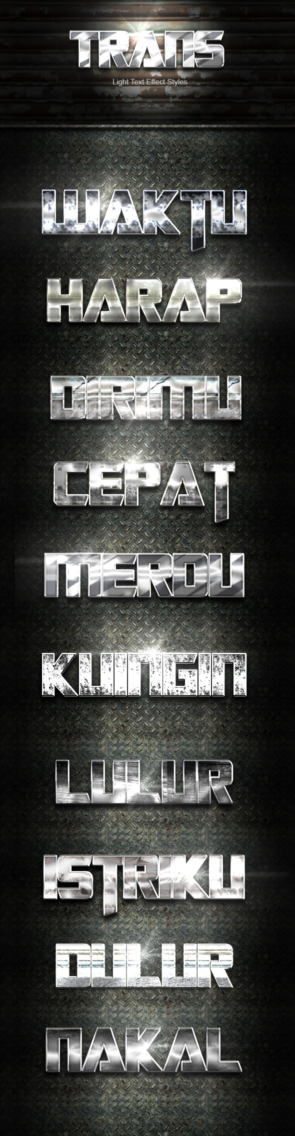 Trans Silver Text Effect V03 - Text Effects Actions