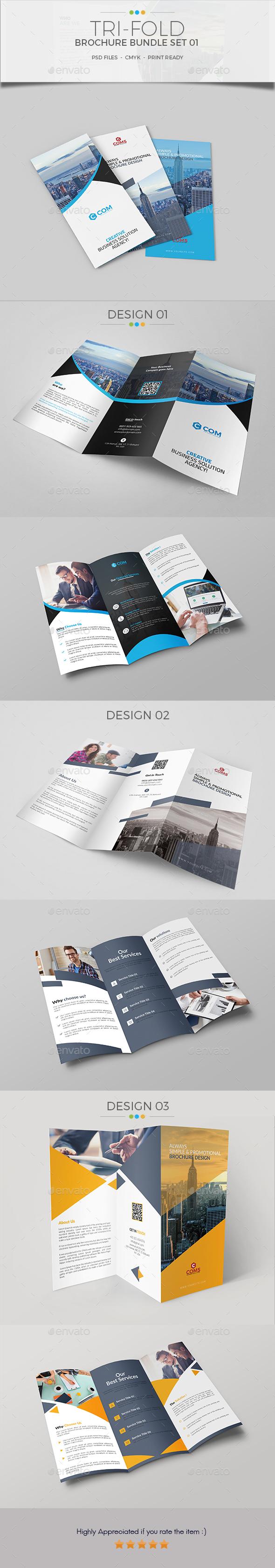 Trifold Brochure Bundle Set 01 - Corporate Brochures