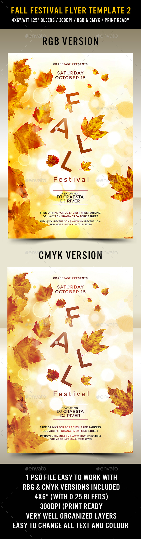 Fall Festival Flyer Template 2 - Flyers Print Templates