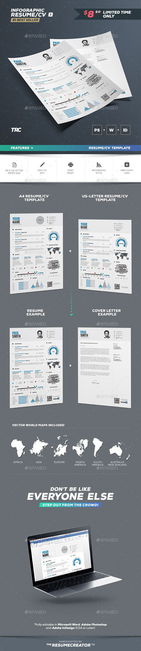 Infographic Resume Vol By Paolo  Graphicriver
