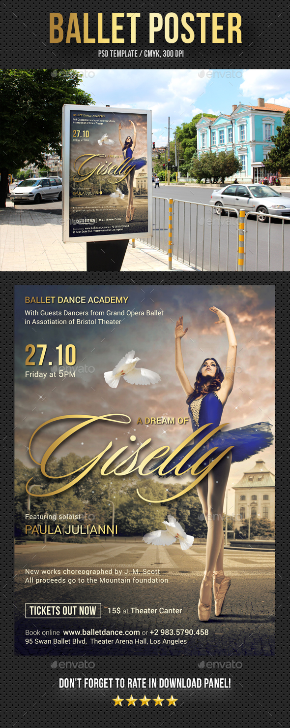 Ballet Poster - Signage Print Templates