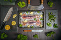 Uncooked fresh cuttlefish
