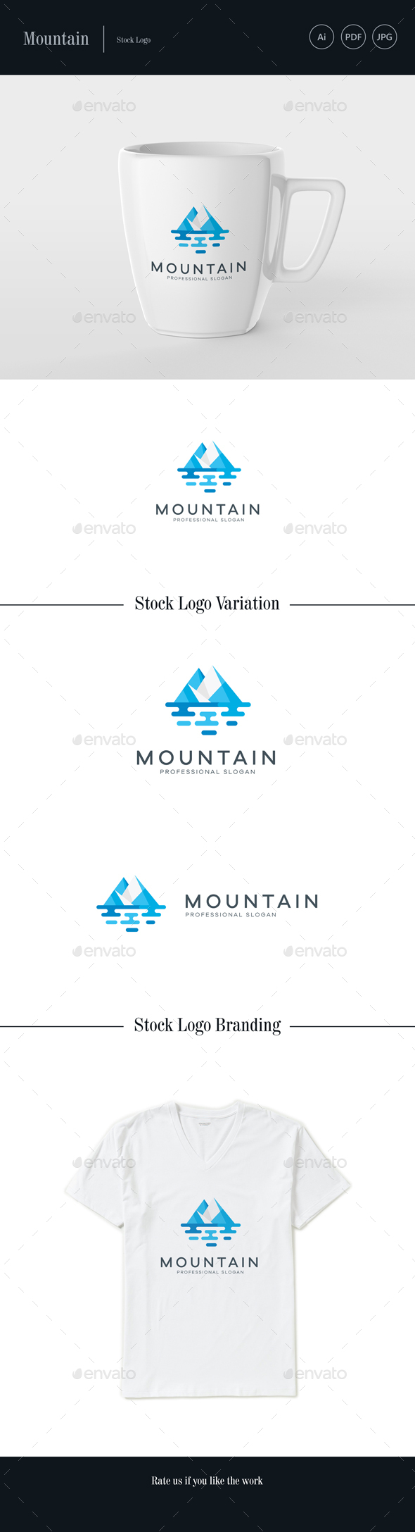 Mountain Stock Logo - Nature Logo Templates