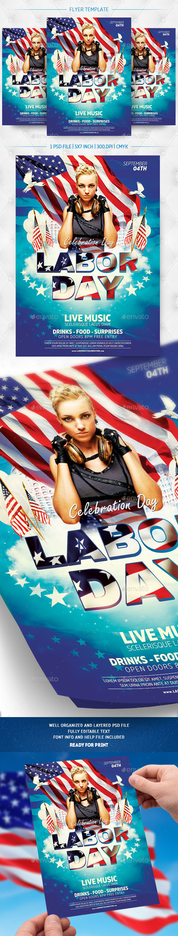 GraphicRiver Labor Day Flyer Template 20538683