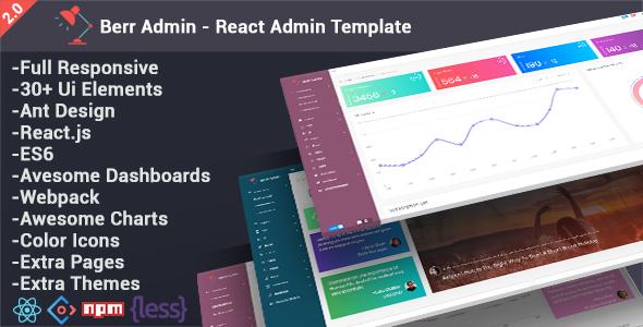 Berr Admin - React Admin Template