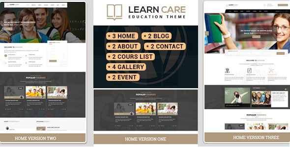 LearnCare Educational WordPress Theme            nulled