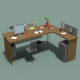 Low Poly Cartoony Office Desk