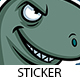 Cutesaurus Rex Sticker - GraphicRiver Item for Sale