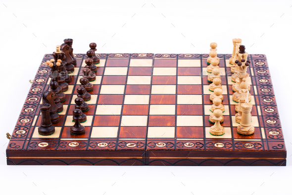 Chess pieces on the board  - Stock Photo - Images