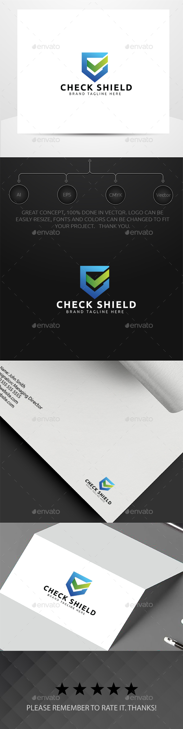 Check Shield - Symbols Logo Templates