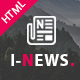 I-News - Bootstrap Responsive HTML News & Magazine Blog Template