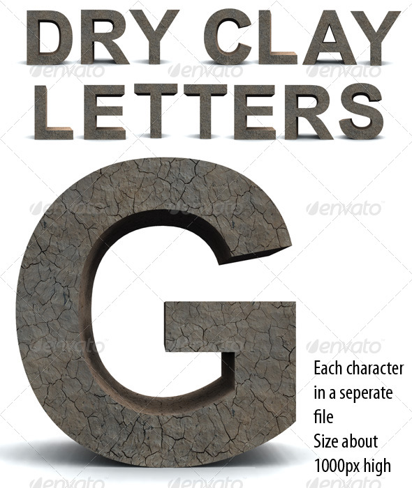 Dry Clay Letters - Miscellaneous Backgrounds