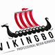 Dragon Viking Boat Logo
