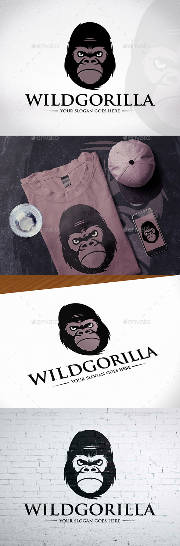GraphicRiver Gorilla Head Logo Design 20539165