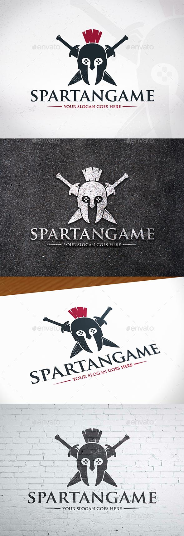 GraphicRiver Spartan Gaming Logo Design 20539187