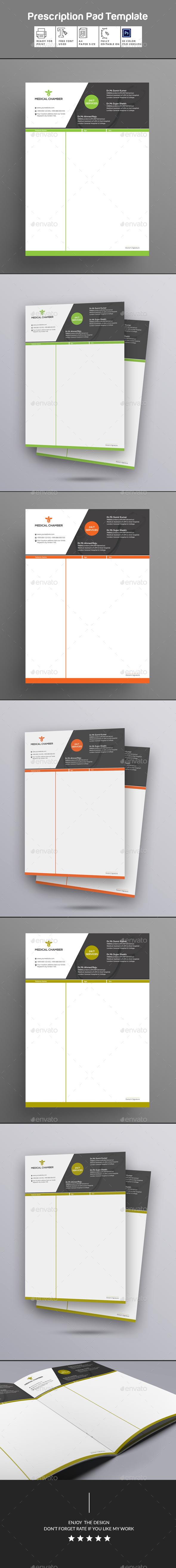 GraphicRiver Prescription Pad Template 20539266