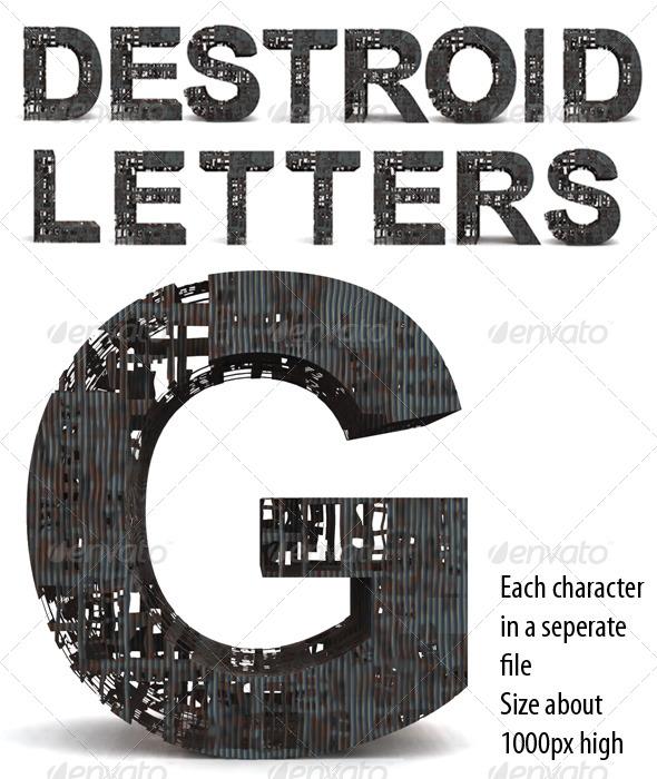 Destroid Letters - Miscellaneous Backgrounds