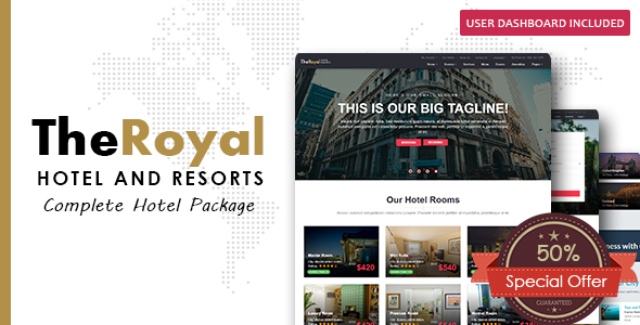 Hotel Booking - Template - Restaurants & Cafes Entertainment
