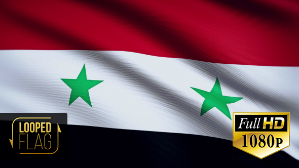 Syria Flag By Bourjart VideoHive - Syria flag