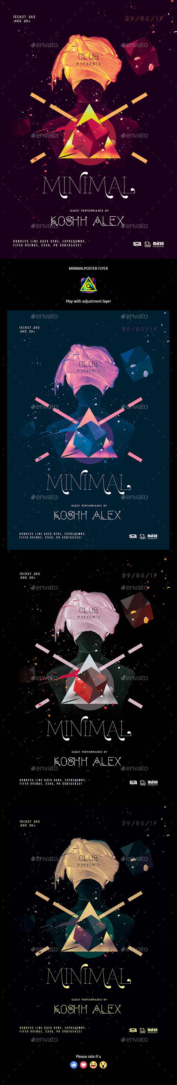 Minimal Poster / Flyer - Clubs & Parties Events