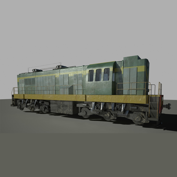 Train Locomotive - 3DOcean Item for Sale