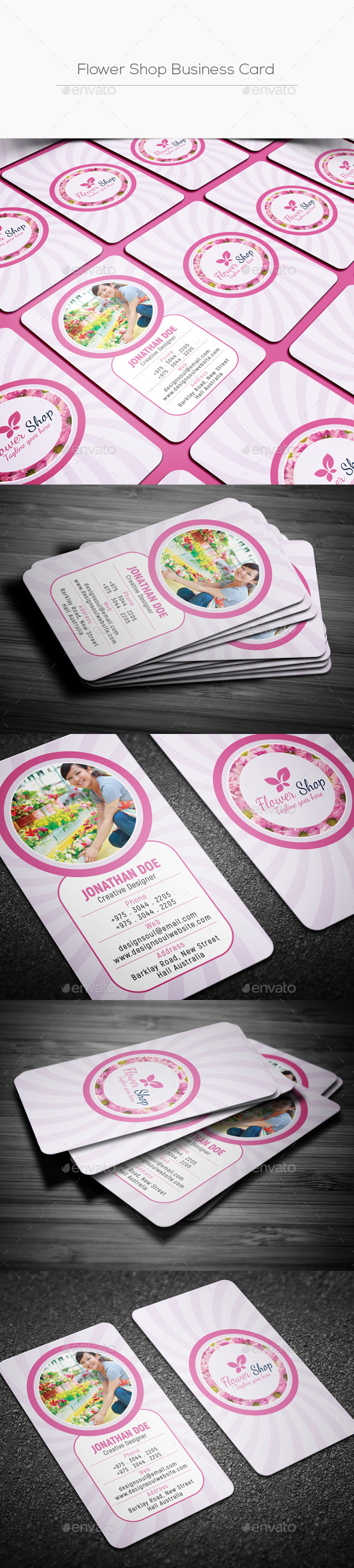 GraphicRiver Flower Shop Business Card 20539769