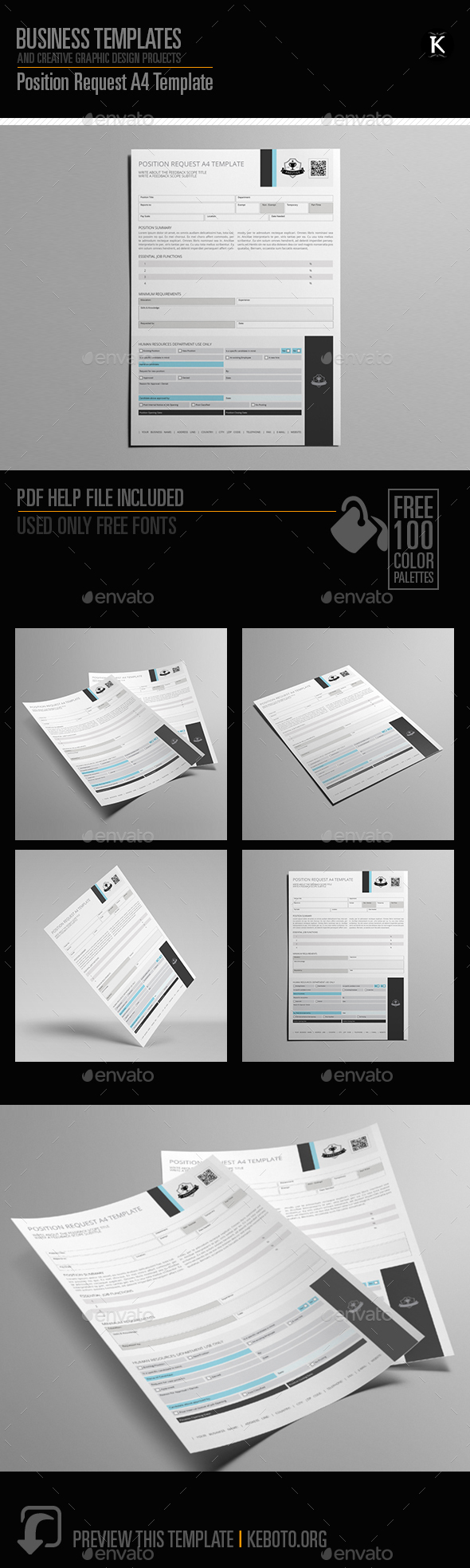 GraphicRiver Position Request A4 Template 20539803