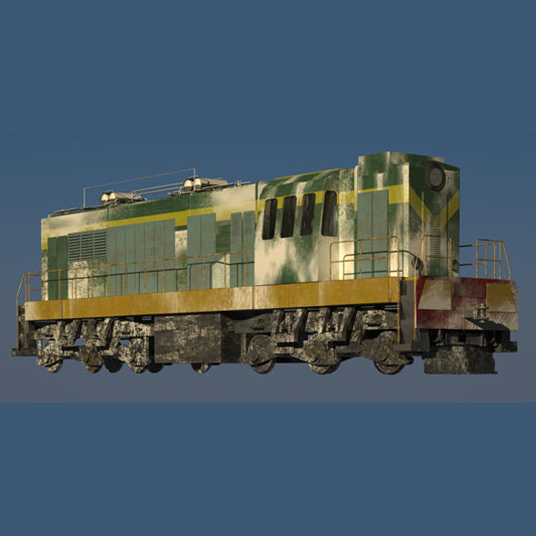 Train Locomotive Snow - 3DOcean Item for Sale