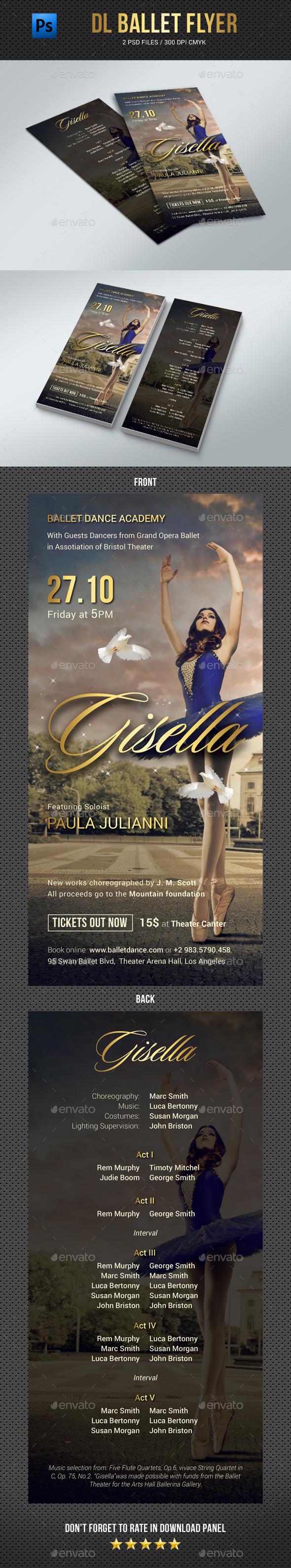 DL Ballet Flyer - Events Flyers