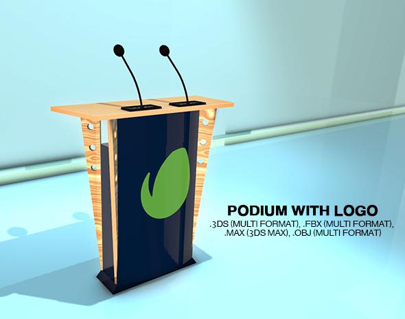 3DOcean Podium & Logo 20540004