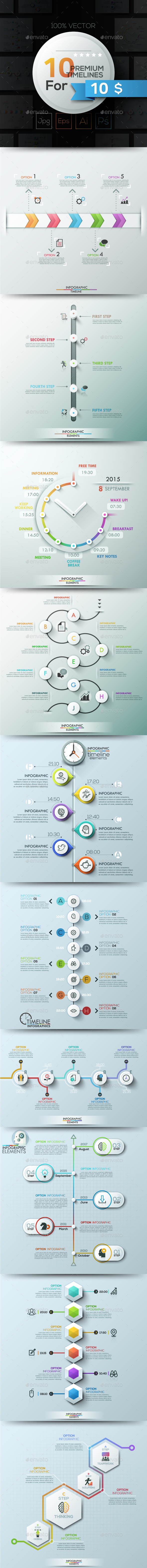 10 Infographic Timelines. Part 1 - Infographics