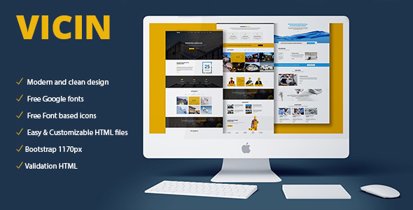 Vicin | Multipurpose Construction & Plumbing HTML Template