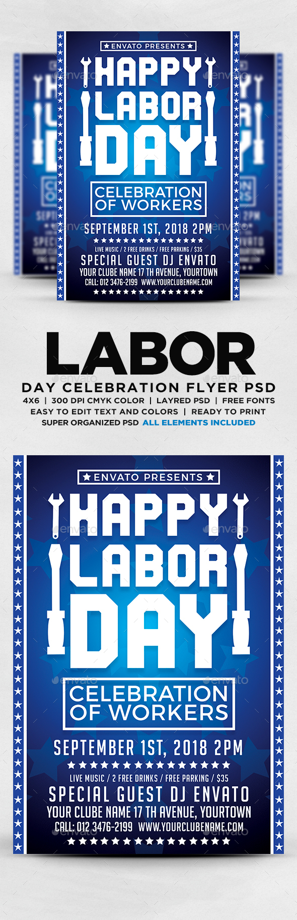 GraphicRiver Labor Day Flyer PSD 20540246
