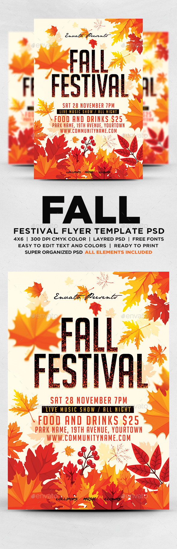 fall festival flyer by designblend graphicriver. Black Bedroom Furniture Sets. Home Design Ideas
