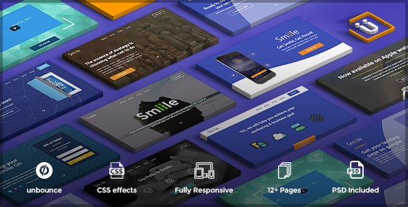 Image of Smiile - multipurpose unbounce pack template