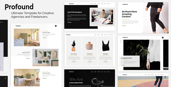 Profound - Multi-Concept Template for Creative Agencies and Freelancers - Portfolio Creative