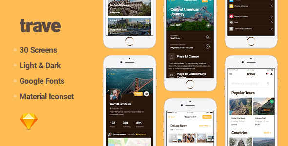 ThemeForest Trave UI Kit 20436015
