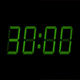Green 30 Second Digital Countdown Display - VideoHive Item for Sale