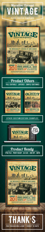 GraphicRiver Vintage Flyer Poster Vol.8 20540602