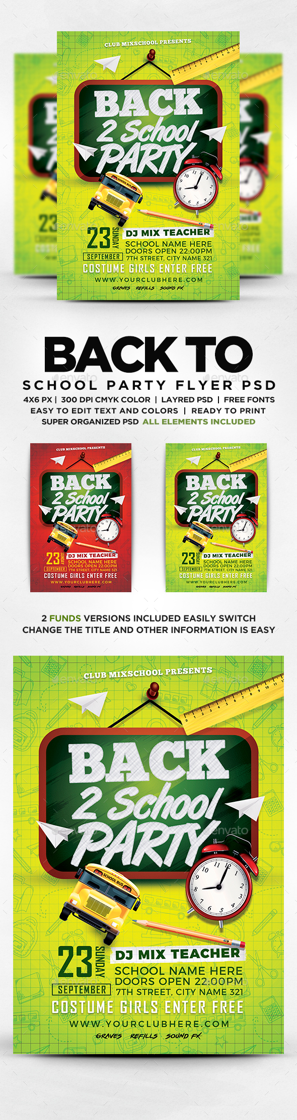 GraphicRiver Back To School Flyer 20540688