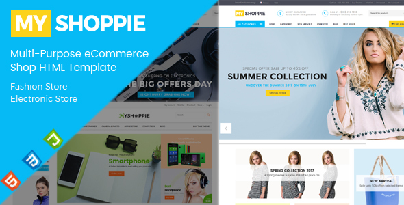 MyShoppie - Multi-Purpose eCommerce Shop HTML Template - Retail Site Templates