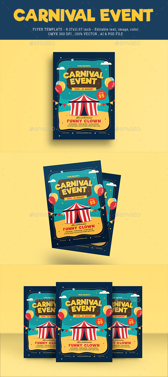 Carnival Event Flyer - Events Flyers