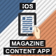 Magazine Content App With CMS - iOS [ AdMob & Push Notifications ]