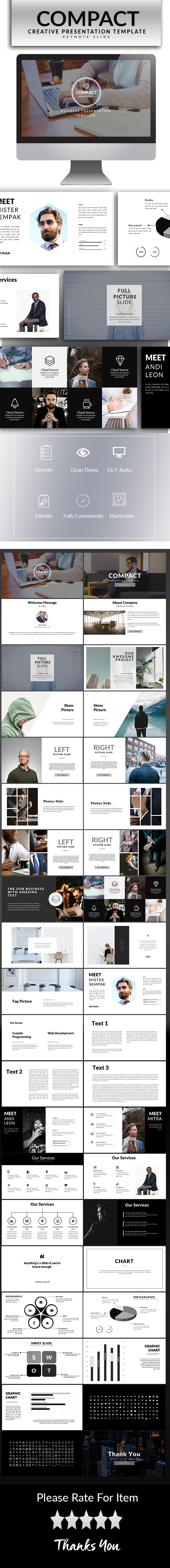 Compact Keynote Template - Keynote Templates Presentation Templates