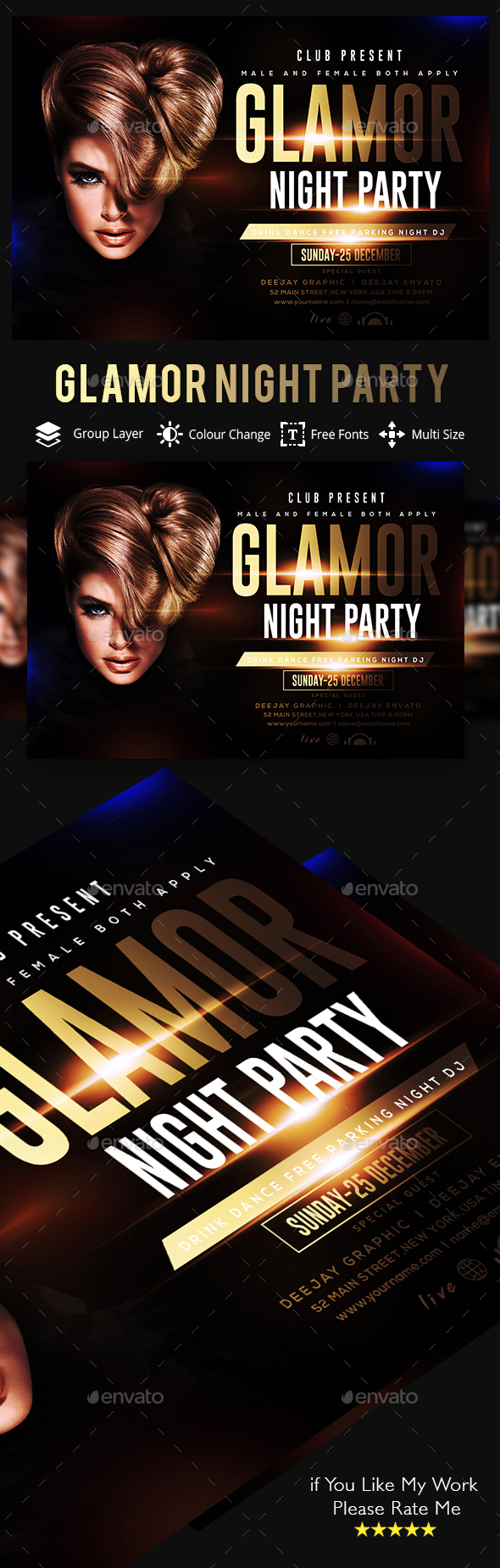 Glamorous Party Flyer - Clubs & Parties Events