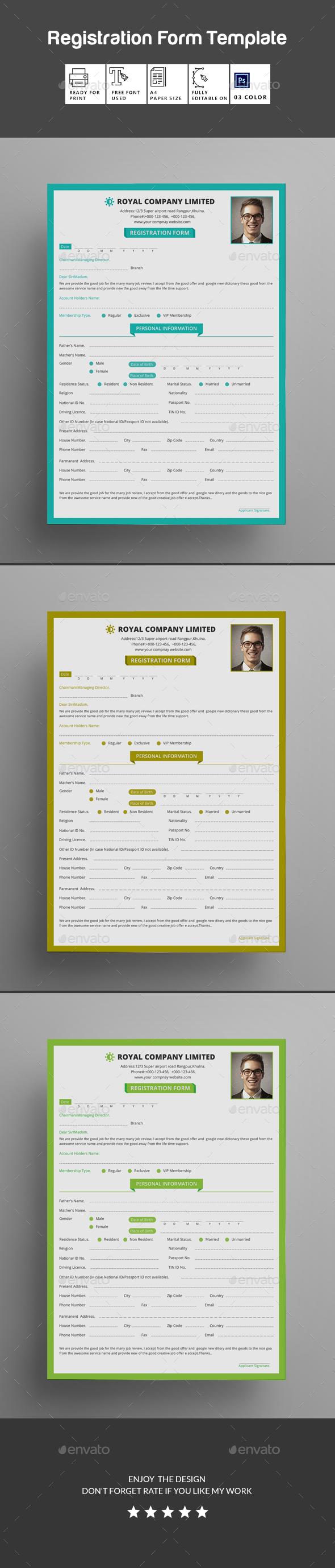 GraphicRiver Registration Form 20540885