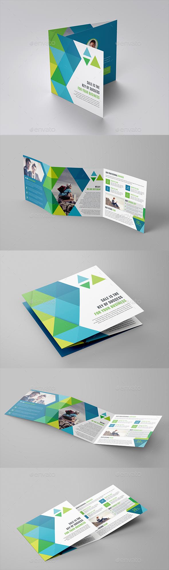 GraphicRiver Square Tri-Fold Brochure Template 20540906