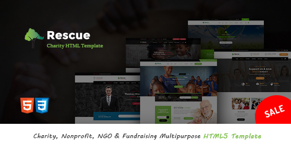 Rescue - Charity, Nonprofit, NGO & Fundraising Multipurpose HTML5 Template