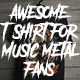 Awesome Skull T-Shirt  For Band Merchandising